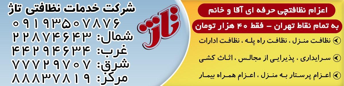 شرکت خدماتی تاژ تهران